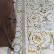 full floor marble inlay design