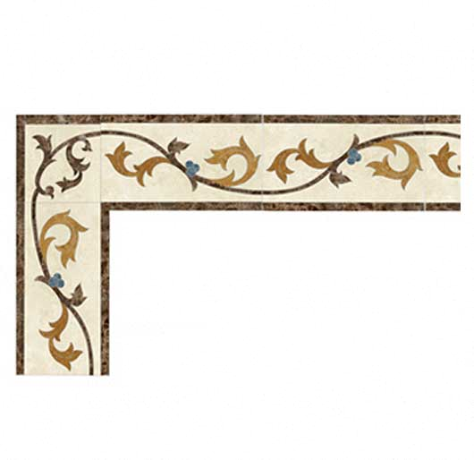 berries collection marble border