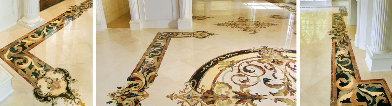 capri marble inlay border