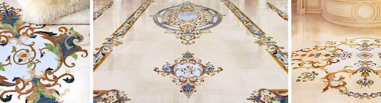 chateau collection marble inlays