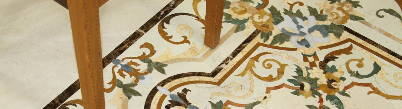 floral marble floor design