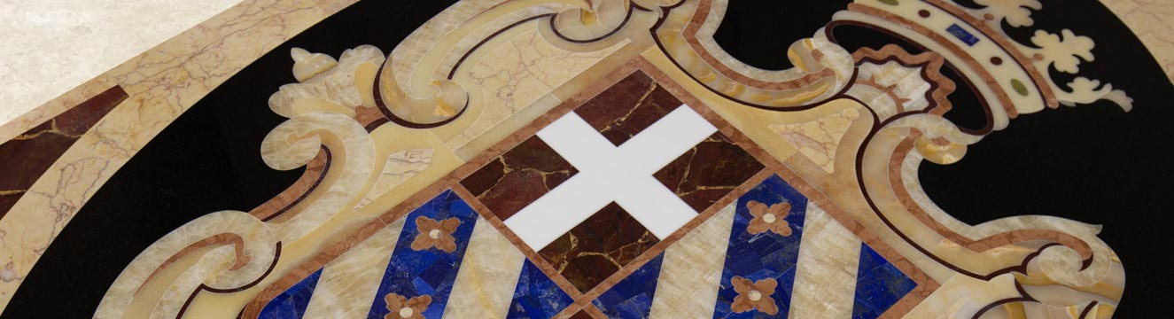 luxury coat of arms floor