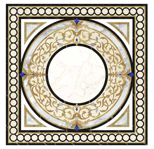 finestra-square-marble-medallion