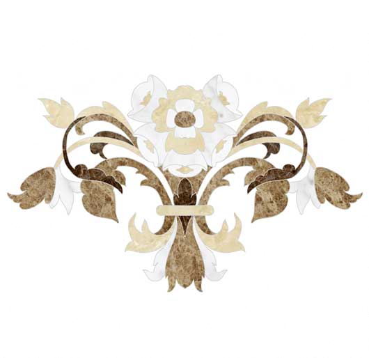 flower collection marble inlay accent