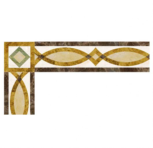 geometric marble inlay border