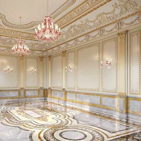 grand luxe collection marble mosaic floor