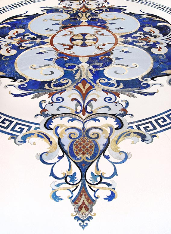 blue lapis lazuli floor medallion from imperial collection