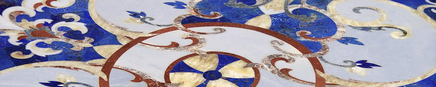 lapis-marble-inlay-floor-medallion-design