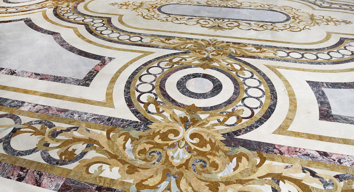 luxury marble inlay floor from grand luxe collection