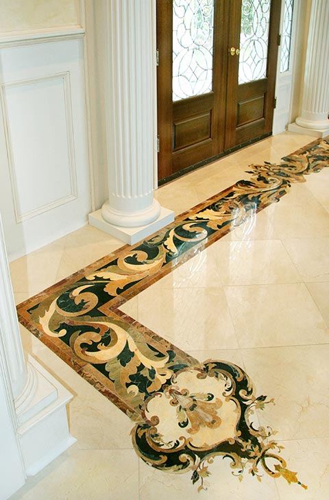marble inlay border corner capri
