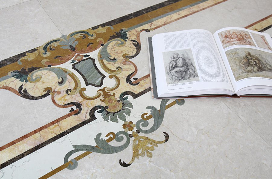 marble inlay borders custom detail