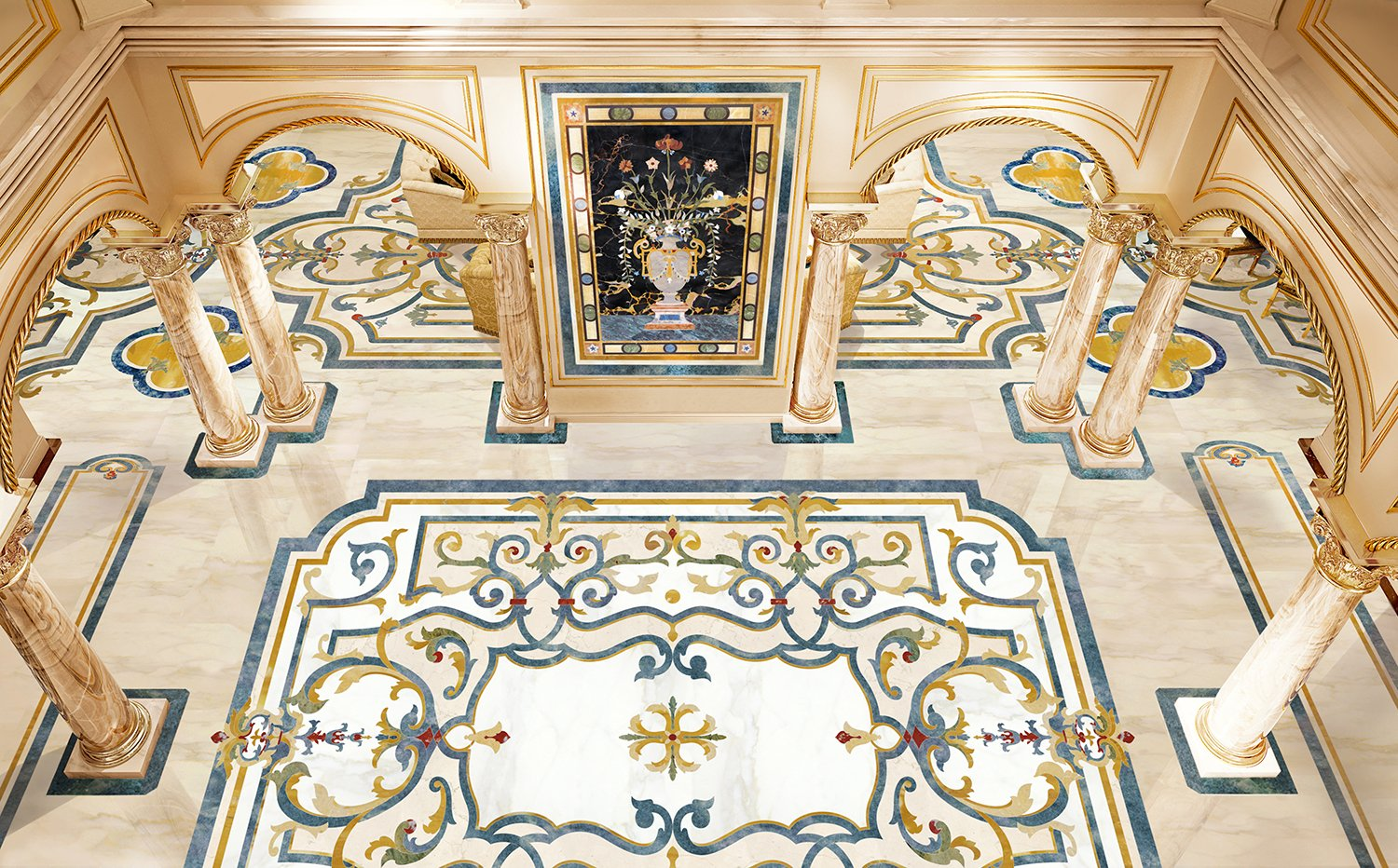 marble-inlay-floor-design-luxury-residence