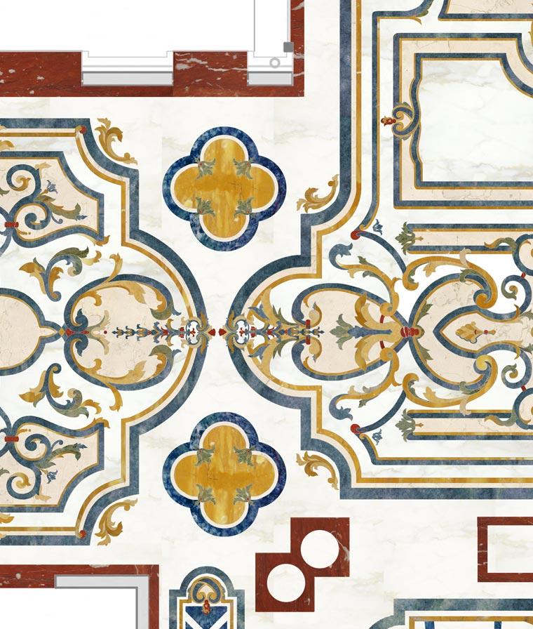 marble design floor rendering