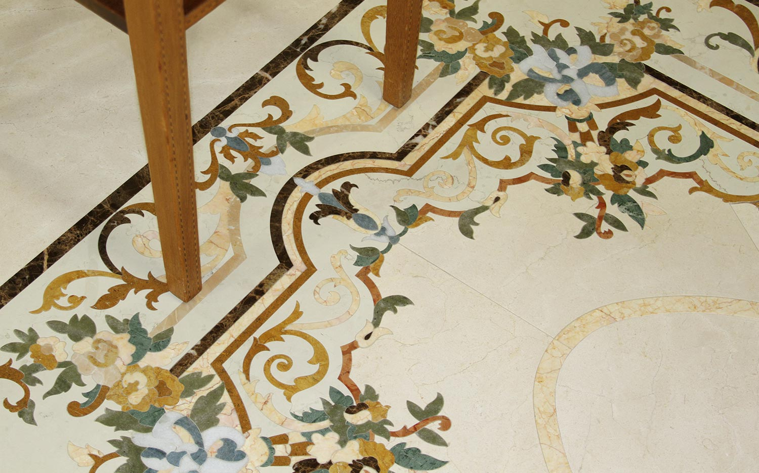 marble inlay flowers floor from provincial collection