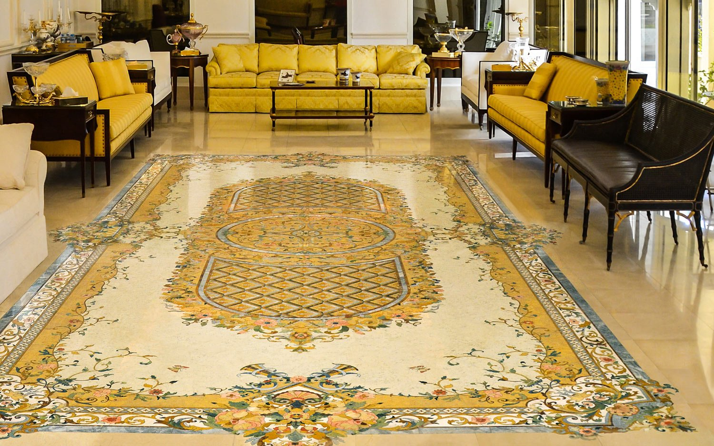 marble inlay medallion grand ballroom floor