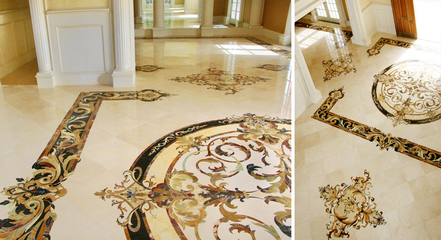 marble inlay whole floor design foyer floor from capri collection