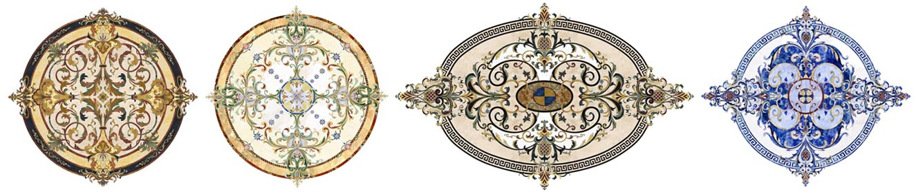 stone inlay medallion selection