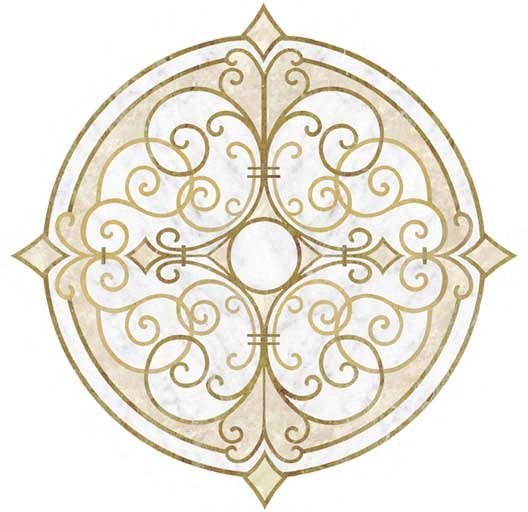 naples-gold-white-marble-inlay-medallion
