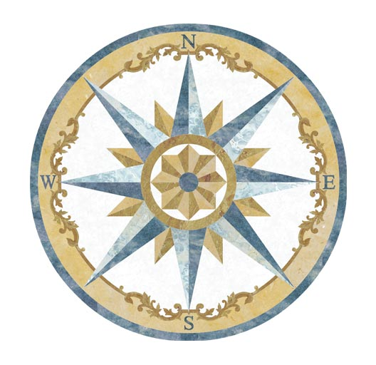 compass rose floor medallion