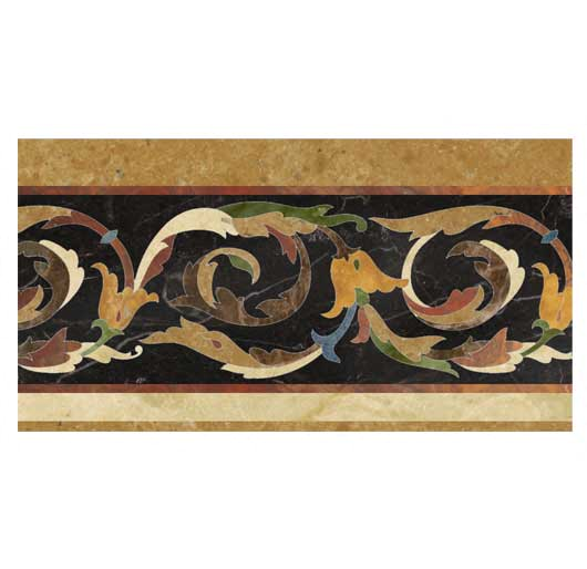 palazzo collection marble inlay border