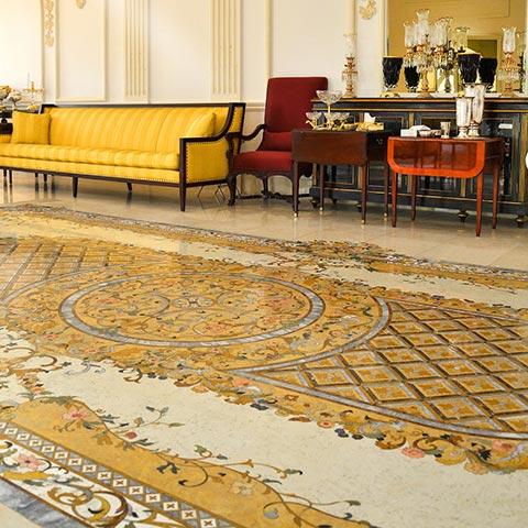 marble mosaic rug design