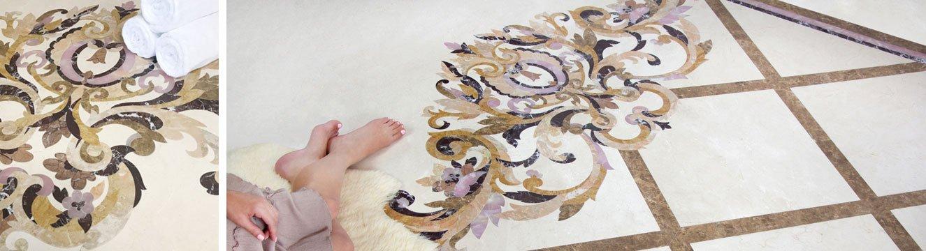 rinaldi marble floor accent