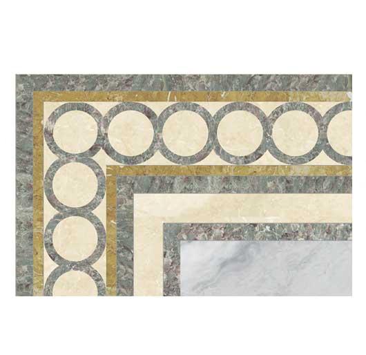 ring marble inlay border