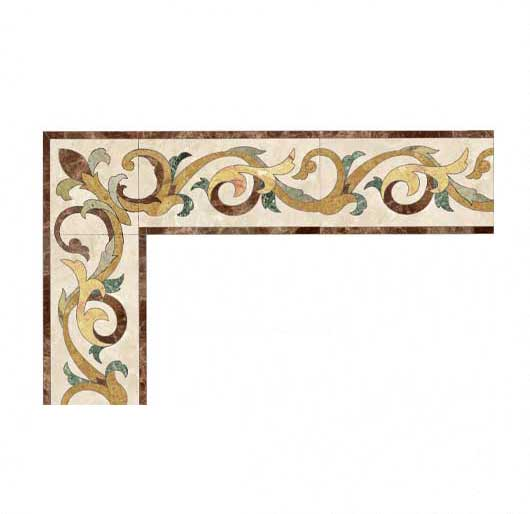 scroll collection marble inlay border