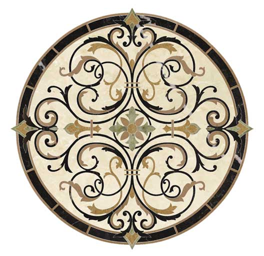 marble scroll medallion