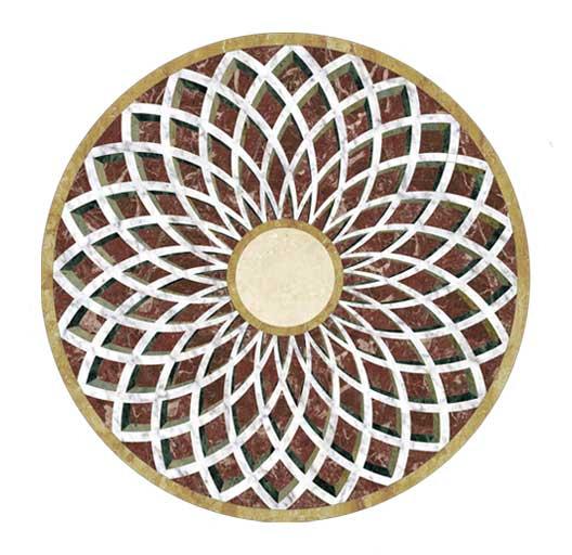 trompe loeil marble medallion