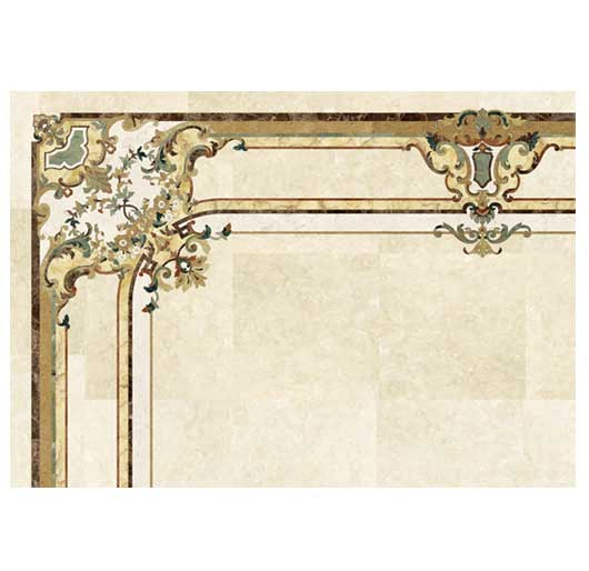 venetian ornate marble border