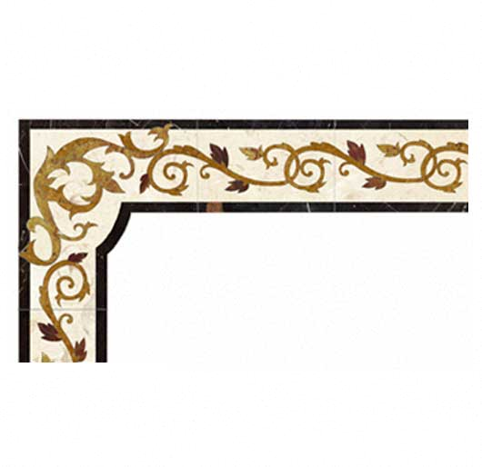 custom vine marble inlay border